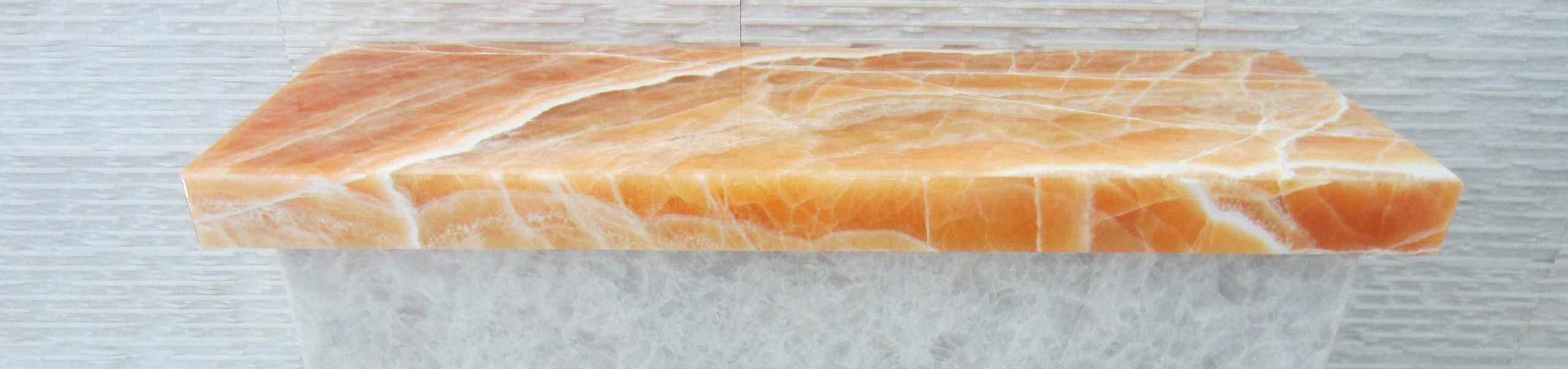 Beautiful material sample from Papa Pita counter renovation